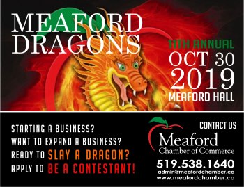 Meaford Dragons Den - Newspaper Ad 350